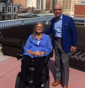 ccess Living CEO Marca Bristo with President of the Ford Foundation Darren Walker