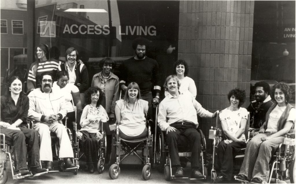 Staff Photo, 1980, Grand Opening of Access Living