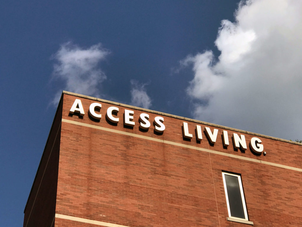 Exterior shot of Access Living's headquarters.