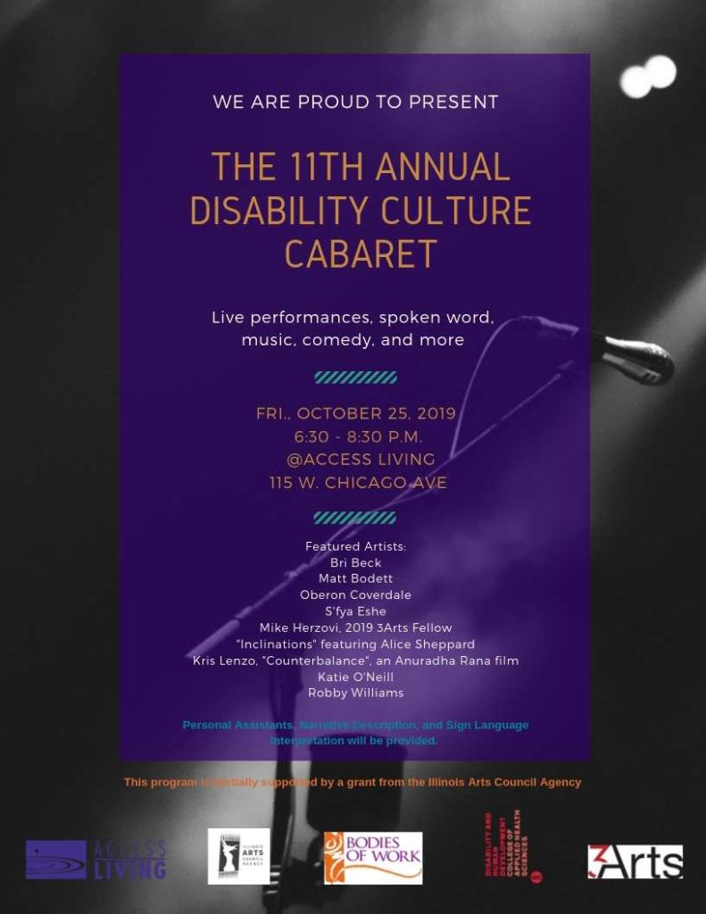 An image of a flyer containing the details for the cabaret