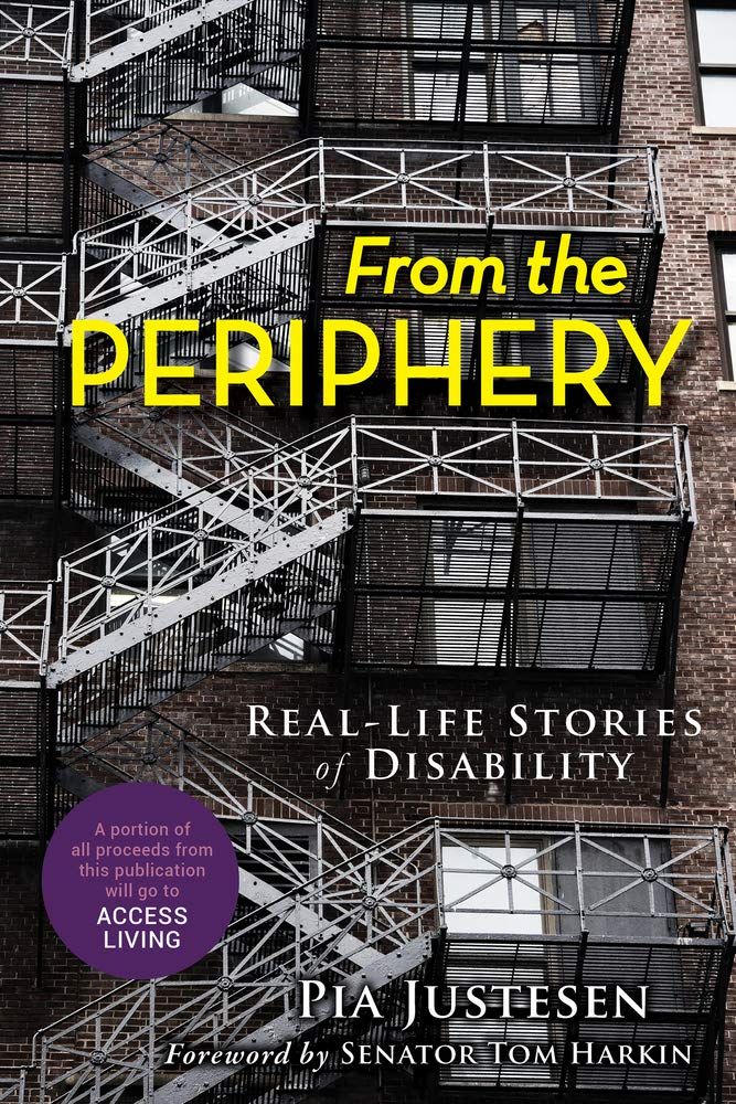 Image is of the front cover of the book From the Periphery: Real-Life Stories of Disability