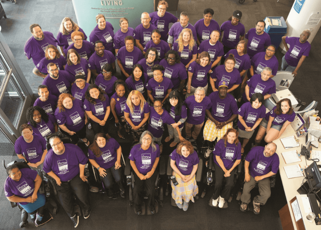 A group shot of Access Living's staff in August of 2019.