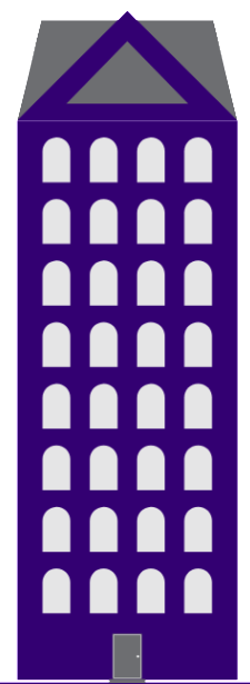 Icon of a large multi-housing unit building.