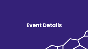 """Purple background with white geometric shapes and the text """"Event Details"""""""